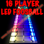 16 player led foosball