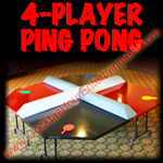 florida arcade game 4-player ping pong or regular ping pong table