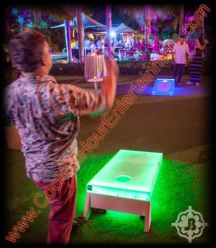 led cornhole