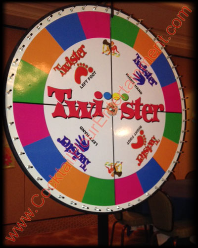 arcade quality twister prize wheel rental